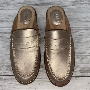 Sperry Gold Slide Loafers Size 6 NEW